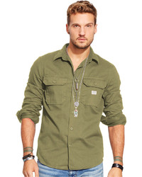 Denim & Supply Ralph Lauren Twill Military Shirt