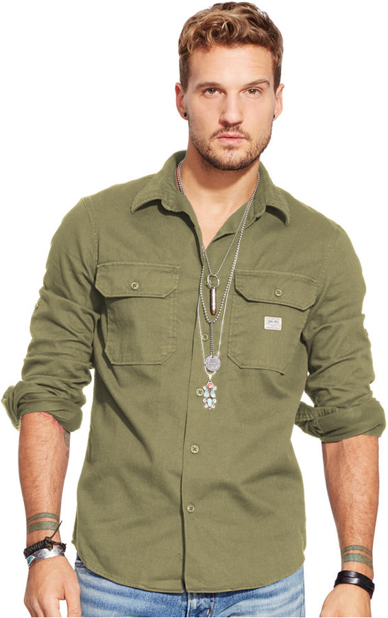 ... Denim & Supply Ralph Lauren Twill Military Shirt