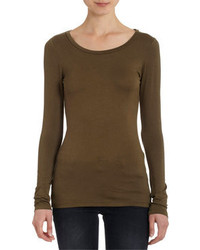 Olive long sleeve t shirt original 1285845
