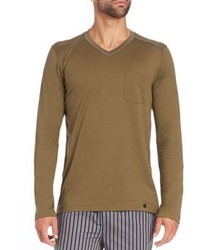 Hanro Alphonse Long Sleeved Cotton T Shirt