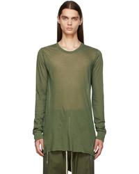 Rick Owens Green Basic Long Sleeve T Shirt