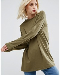 Asos Long Sleeve Longline T Shirt