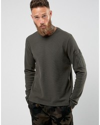 Brave Soul Waffle Long Sleeve With Military Arm Pocket