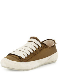 Parson satin low top lace up sneaker medium 3749693