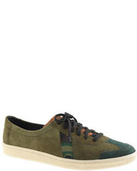 J.Crew Sawatm For Dr Bess Sneakers In Camo Suede