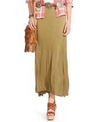 Olive maxi skirt original 1467609