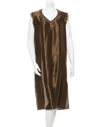 Lanvin Embellished Midi Dress W Tags