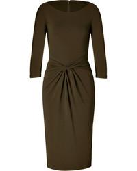 Michael Kors Michl Kors Twist Front Dress In Olive