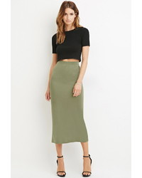 c342f9553b Women's Olive Midi Skirts by Forever 21   Women's Fashion ...
