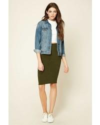Forever 21 Marled Pencil Skirt