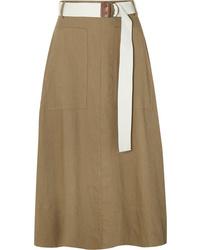 Tibi Twill Wrap Midi Skirt