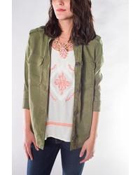 Velvet Heart Army Green Jacket