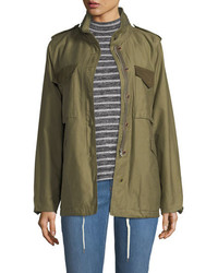 Rag & Bone Ash Field Zip Front Utility Jacket