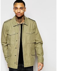 Asos Brand Military M65 Jacket In Khaki
