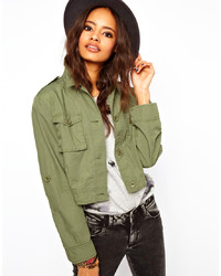 Asos Cropped Utility Jacket