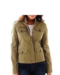 Asstd National Brand Coffee Shop Twill Military Jacket