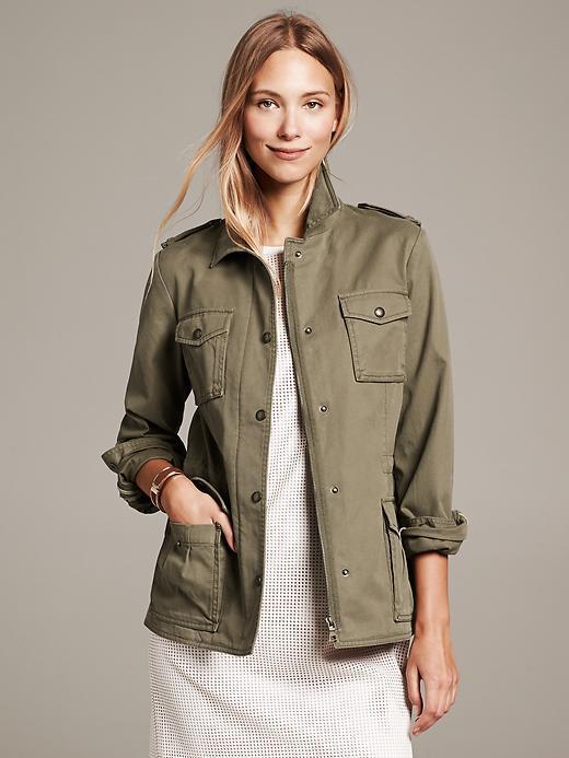 Banana republic womens military jacket