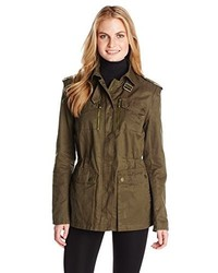 BCBGMAXAZRIA Cotton Military Jacket