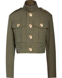 Marc Jacobs Cropped Wool Gabardine Jacket