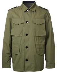 Kent & Curwen Detachable Quilted Military Jacket