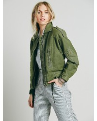 Free People Zip Army Jacket