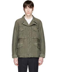 Green damaged military jacket medium 668679