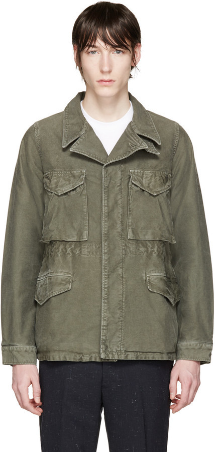 VISVIM Green Damaged Military Jacket | Where to buy & how to wear