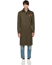 Fendi Green Military Face Jacket
