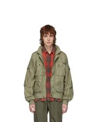 John Elliott Green Sa Canopy Bomber Jacket