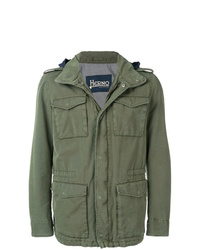 Herno Hooded Military Jacket
