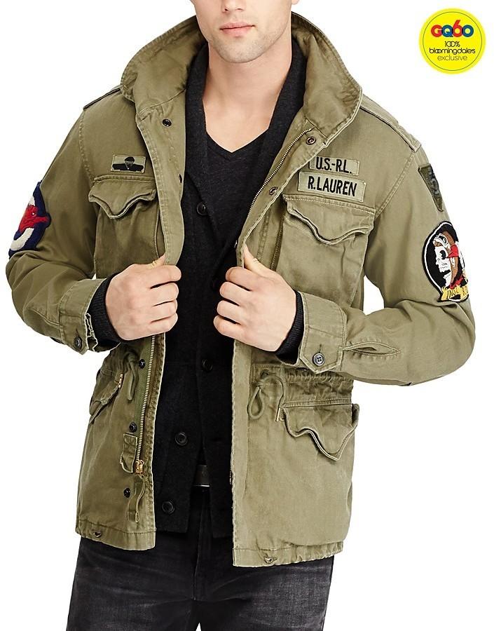 strukturelle Behinderungen anerkannte Marken viele möglichkeiten $295, Polo Ralph Lauren Iconic M 65 Field Jacket Gq60 100%
