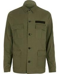River Island Khaki Military Jacket