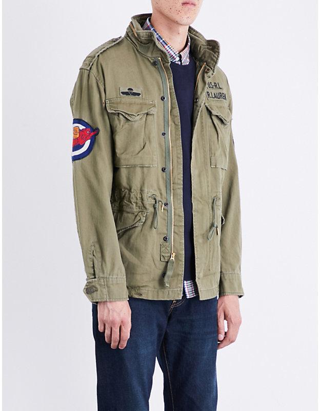 großer Rabatt fantastische Einsparungen Bestseller einkaufen $395, Polo Ralph Lauren M65 Cotton Jacket