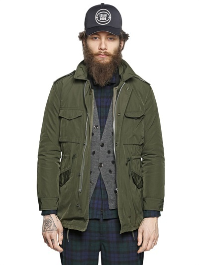 Golden Goose Deluxe Brand Nylon Canvas Parka Down Jacket | Where ...