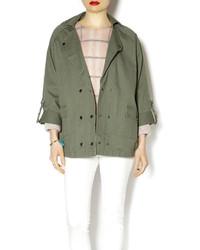 POL Olive Cocoon Jacket