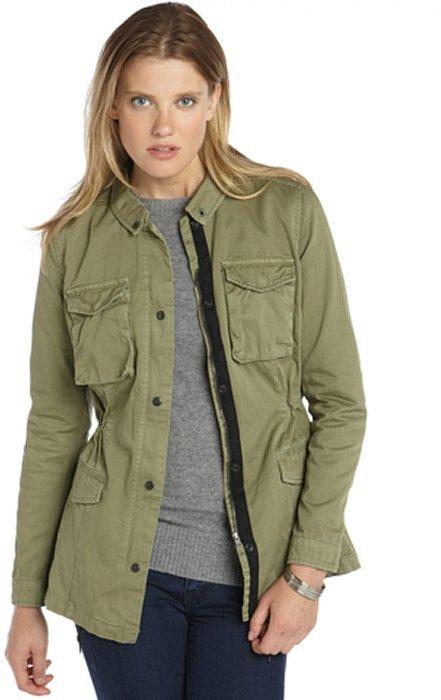 ... Walter Olive Cotton Twill Rihanna Utility Jacket