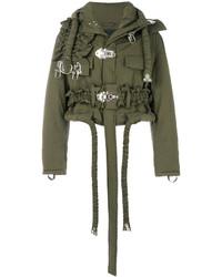 Padded buckled military jacket medium 5317555