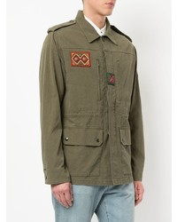Saint Laurent Patch Detail Military Parka Jacket