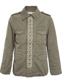 Tu Es Mon Tresor Pearl Lattice Military Jacket