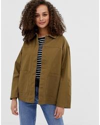 ASOS DESIGN Utility Washed Cotton Jacket