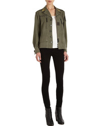 Barneys New York CO-OP Vintage Button Front Army Jacket