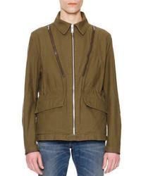 Maison Margiela Zipper Detail Military Jacket Olive