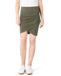 Michl stars faux wrap miniskirt medium 5035332