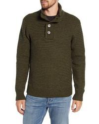 Schott NYC Military Henley Sweater