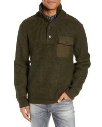 Schott NYC Wool Blend Military Sweater