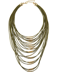 Fragments for Neiman Marcus Fragts Multi Strand Cord Statet Necklace Olive