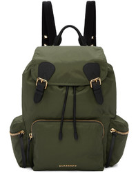 Burberry Green Nylon Backpack