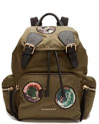 Burberry Pallas Heads Appliqu Nylon Backpack