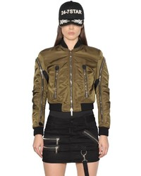 Dsquared2 Military Nylon Bomber Jacket