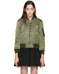 81593fe6f63 Women's Olive Bomber Jackets by Saint Laurent | Women's Fashion ...